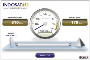 Speed Test IM2 HDPA 2 Januari 1.42