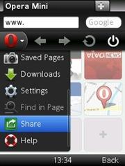 Opera Mini 6 Share