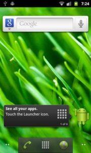 Google Nexus S i9020 layar