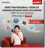 Telkomsel BlackBerry Sosialita