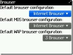 Setting Browser Blackberry