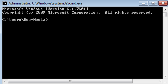 MS DOS Command Prompt