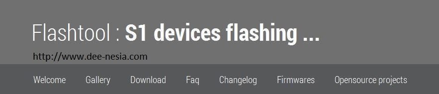 Flashtool Site's Header