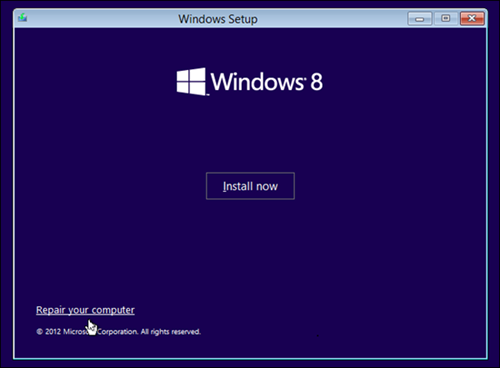 Setup Windows 8