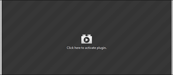 Click Here to Activate Plugin