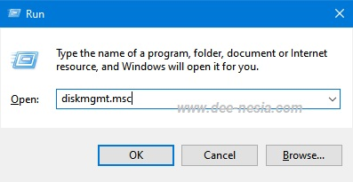 Cara membuka Disk Management melalui CMD