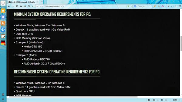 Cek spesifikasi minimum laptop untuk main game tertentu