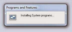 Proses instalasi Windows 10 Skin Pack Sedang Berjalan