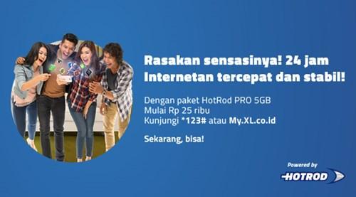 Cara Daftar Paket Internet HotRod Pro