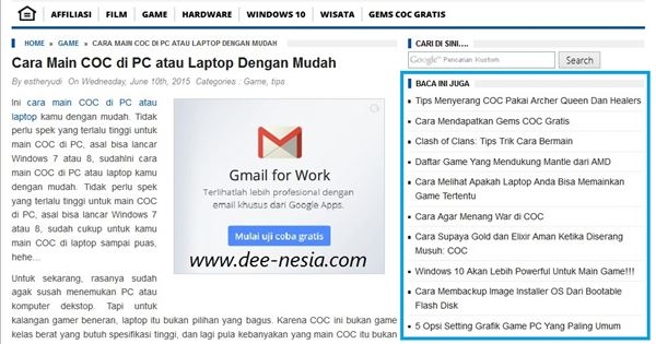 Contoh Related Posts Di Sidebar