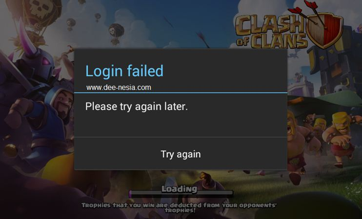 COC Login Failed Please try again later