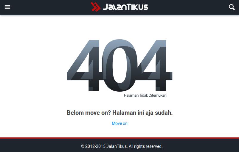Custom 404 Error Page Jalan Tikus