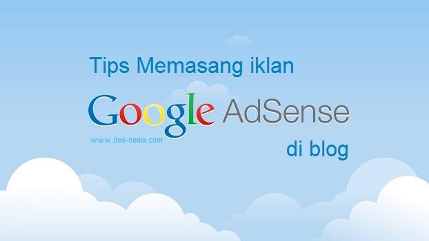 Memasang Iklan Adsense di Blog