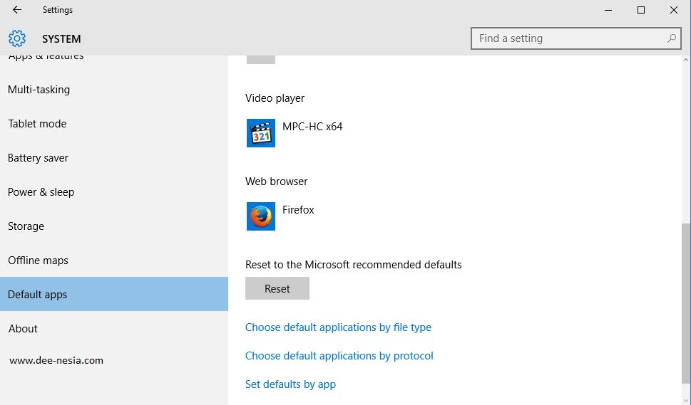 Cara Mengembalikan ke Pengaturan Awal Default Aplikasi Windows 10