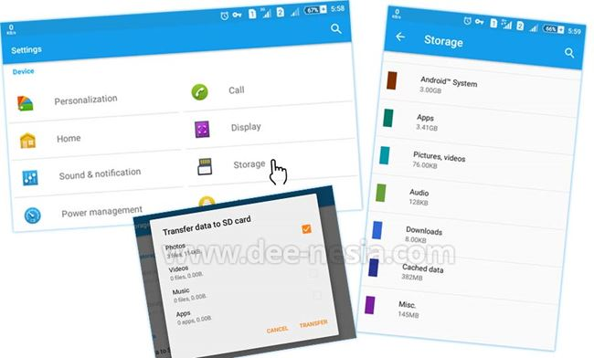 Tool Storage Bawaan Android