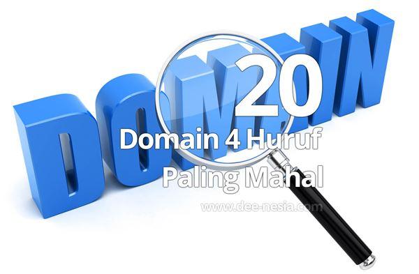 20 Domain 4 Huruf Paling Mahal