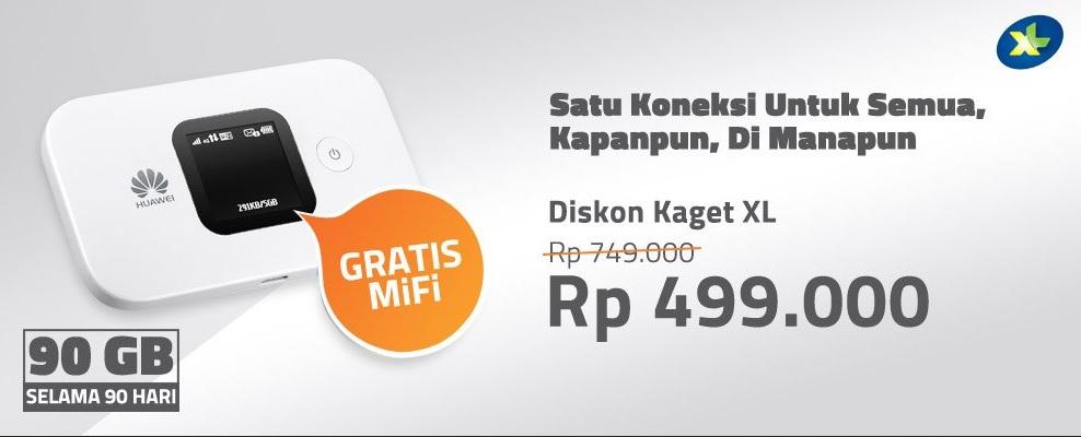 MiFi HUAWEI Paket XL Go 90GB [E5577] 400 Ribuan