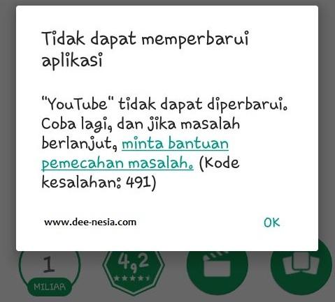 Cara Mengatasi Error Code 491 Di Google Play Store