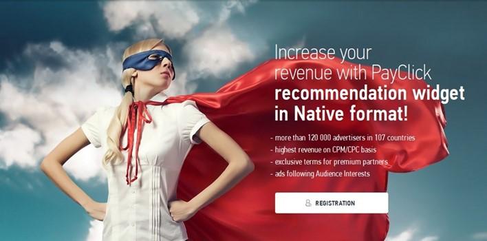 PayClick Pendamping Adsense untuk mendapat uang dari Blog