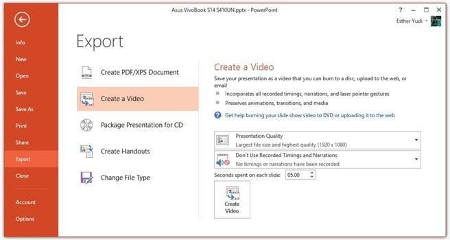 Cara Membuat Slideshow PowerPoint Menjadi Video