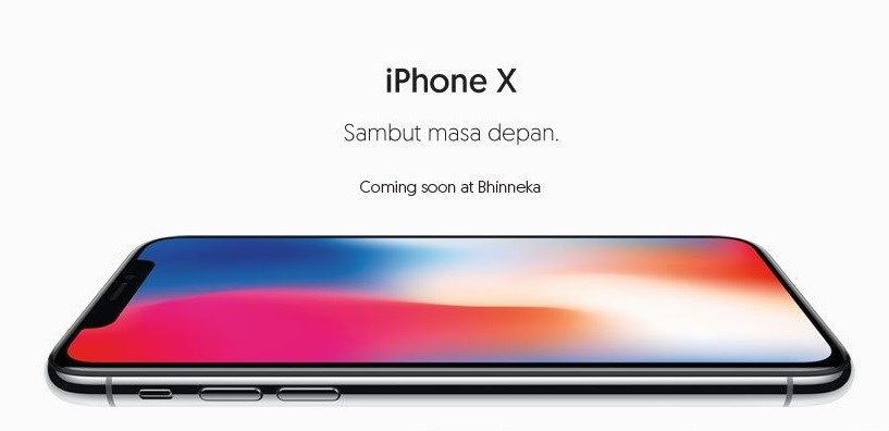 Harga iPhone X di Bhinneka