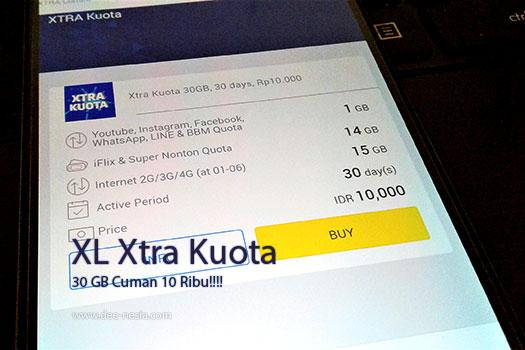 XL Xtra Kuota 30GB 10 Ribu