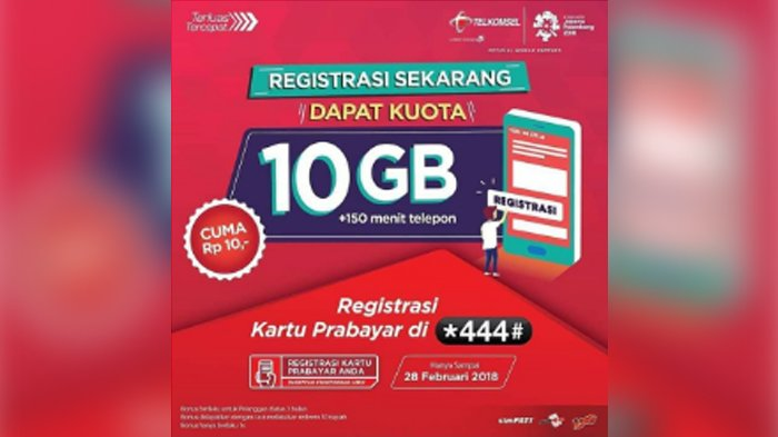 Bonus Kuota Telkomsel 10GB 2018