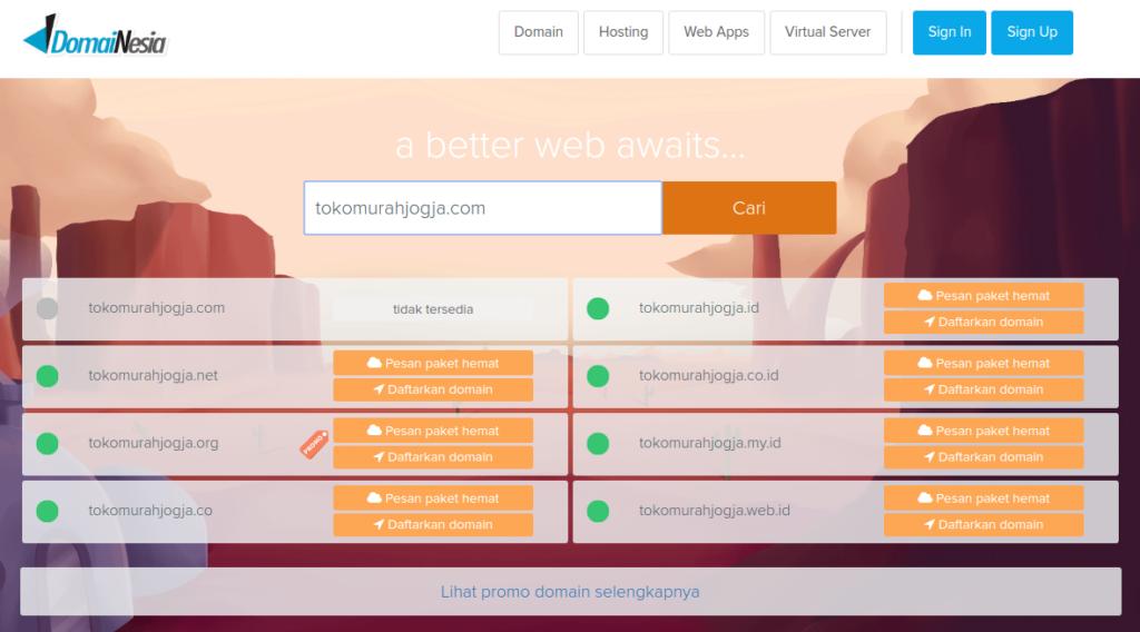 DomaiNesia Penyedia Layanan Hosting dan Domain Murah Terbaik
