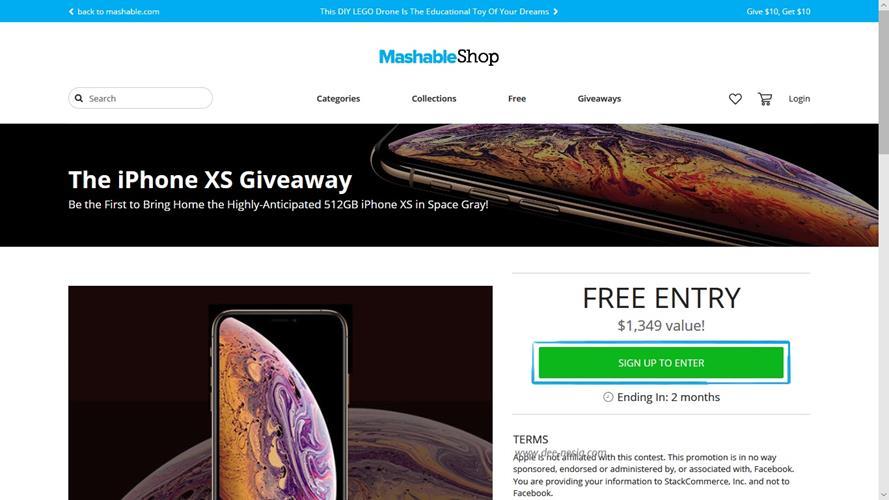 Cara Mendapatkan iPhone XS Giveaway Mashable
