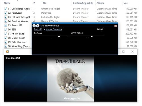 SRS WOW effects di Windows Media Player