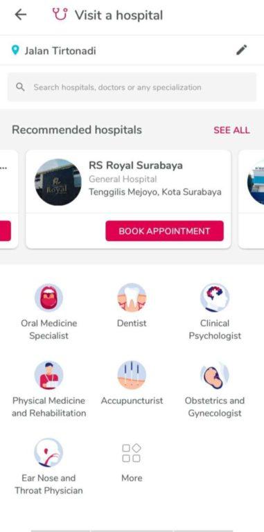 Halodoc Konsultasi Dokter - Rumah Sakit Yang Bisa Dipilih