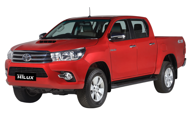 All New Hilux Double Cabin Crimson Red